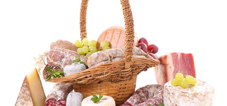 Cheese and Sausage Gift Baskets